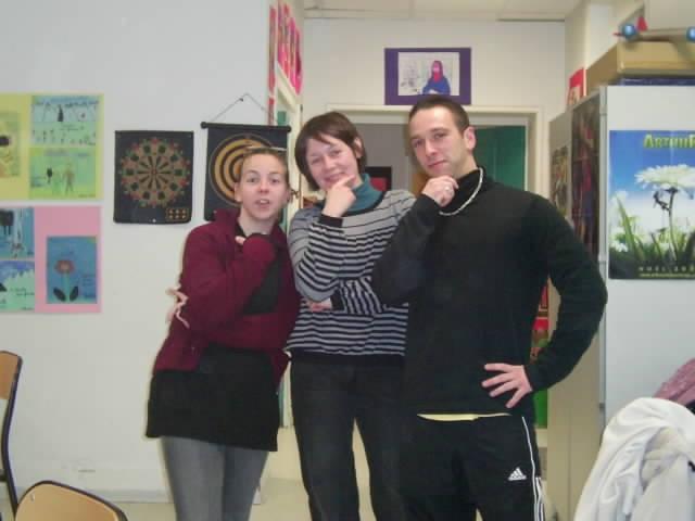 Emilie, Aline et Vincent...